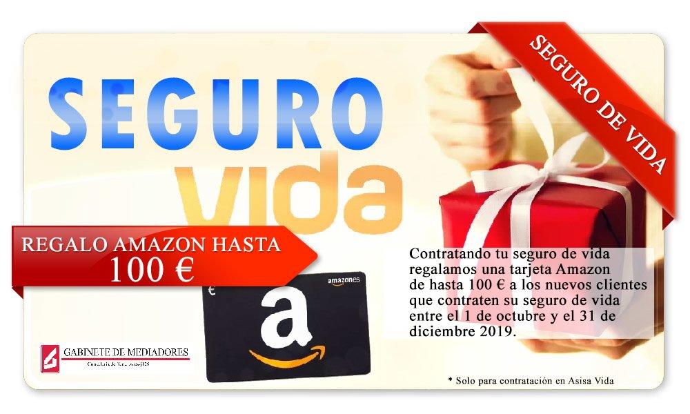 REGALO tarjeta Amazon de hasta 100 € a los nuevos asegurados